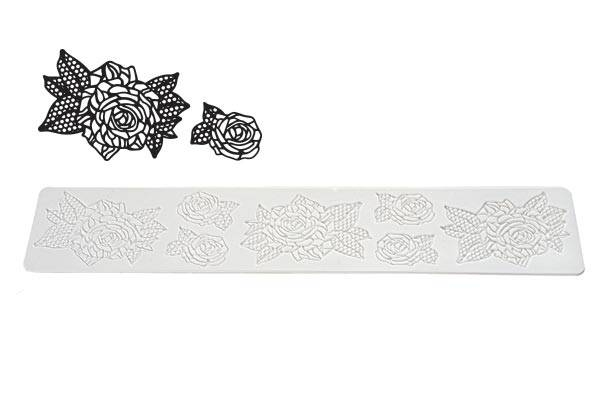 Sil.forma na krajku ruže TRD14