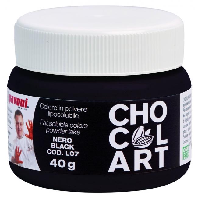 Práškova farba do čokolády čierna 40 g