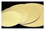Kartónová podložka kruh 25 cm, zlatá