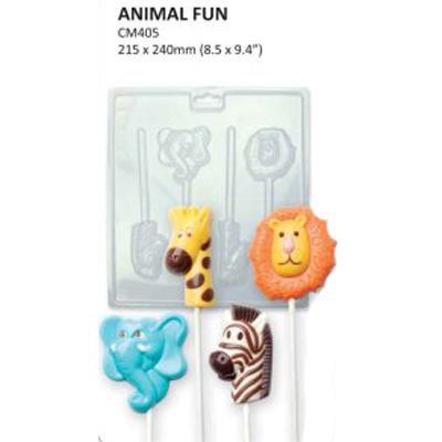 Formičky na čokoládu zvieratká