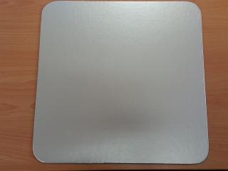 Kartónová podložka obdĺžnik 43x31cm, strieborný