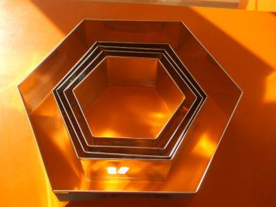 Forma ráfik šesťhran 10 cm