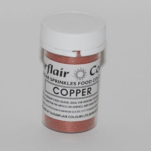 Práškový lesk sugar sprinkles copper-medený 20 g