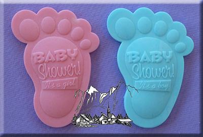Sil.formička Baby shower detské nožičky