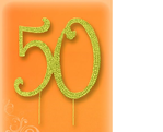 Štrasová ozdoba číslo zlatá 50