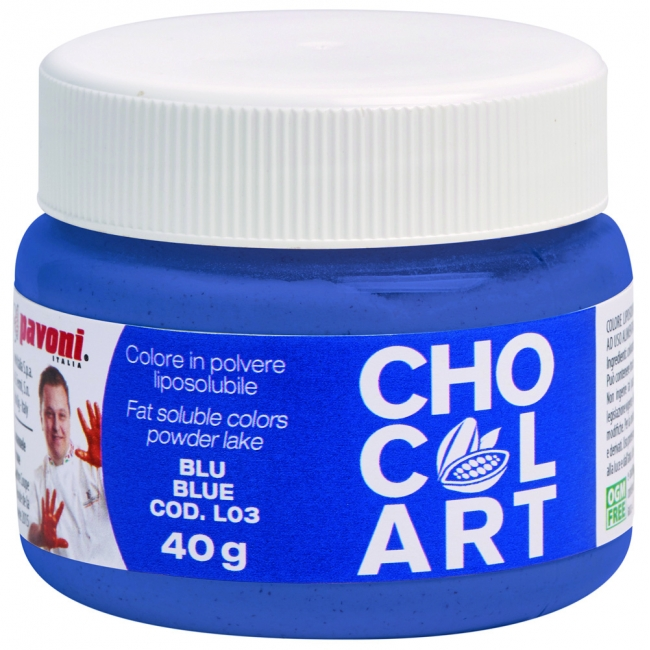 Práškova farba do čokolády modrá 40 g