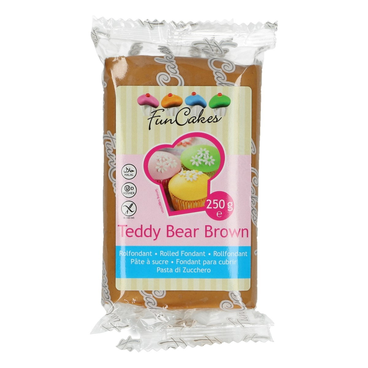 Roll fondant Teddy Bear Brown sv. hnedý 250 g