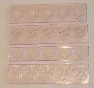 Sada krajok č.1 ružová - Textured Lace