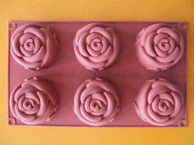 Silikonová forma na čokoládu ružičky