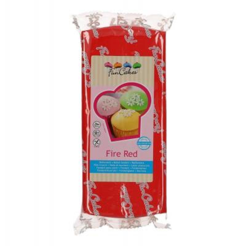 Roll fondán Fire red - červený 1 kg