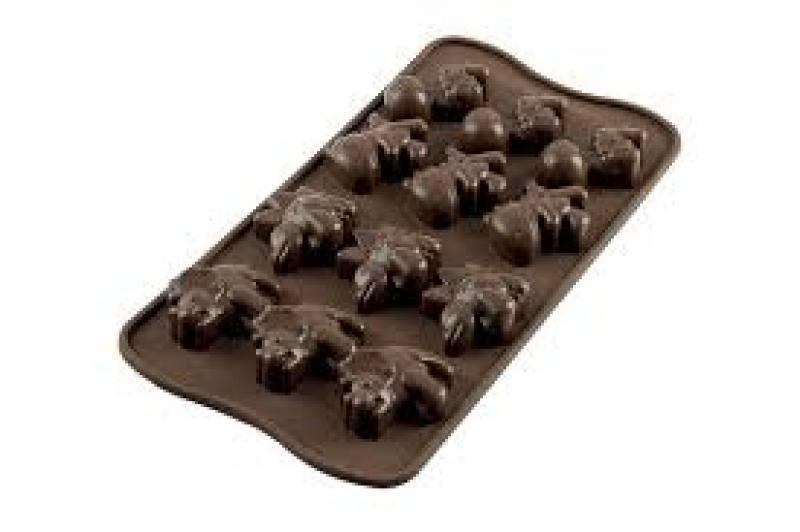Silikonová formička na čokoládu Dino