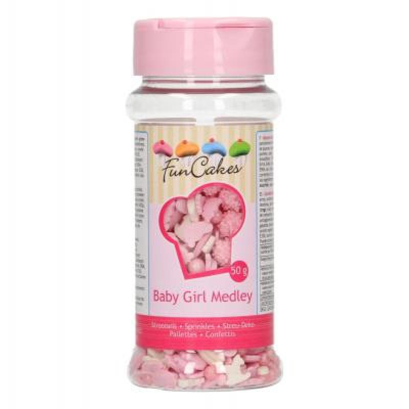 Zdobenie bielo ružové Baby Girl 50 g