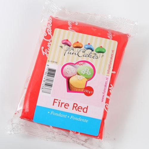 Roll fondant Fire Red - ohnivo červený 250 g