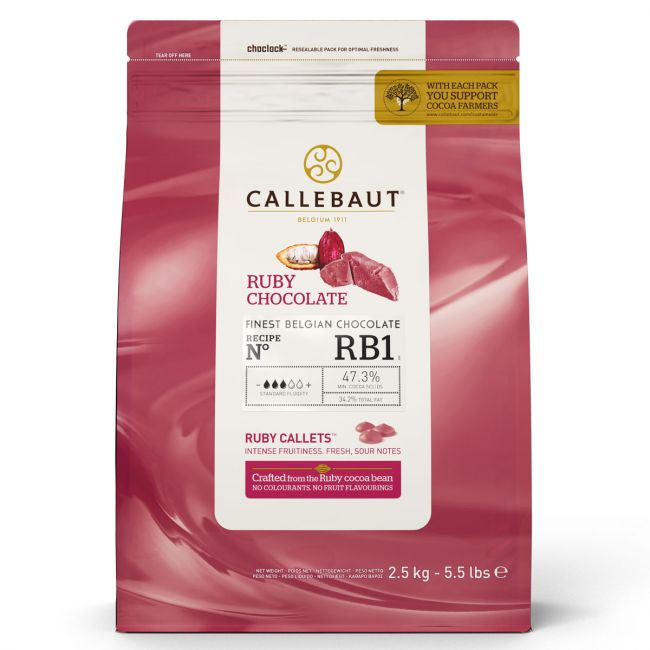 Belgická čokoláda Ruby Callets 2,5 kg