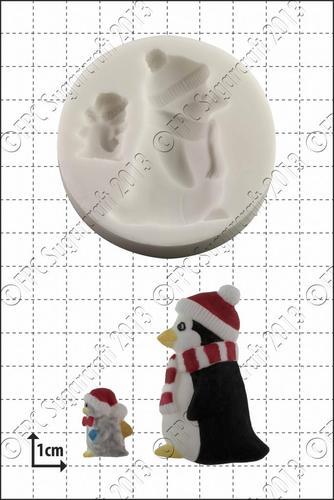 Silikón.formička pinguin