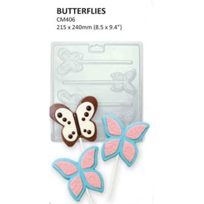 Formičky na čokoládu motýle