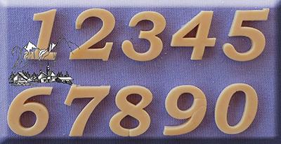 Silikonová formička čísla