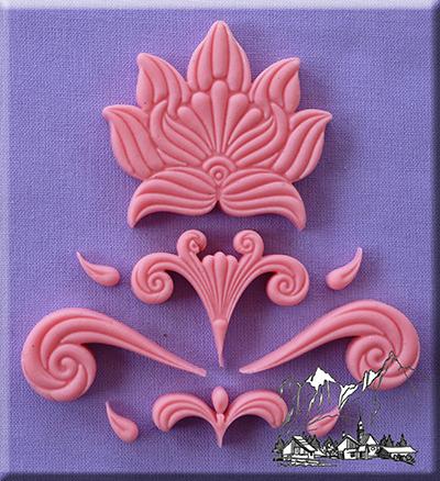 Silikonová formička ornamenty