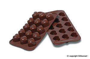 Formičky na čokoládu srdiečka monamour