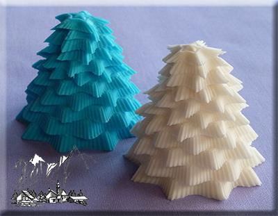 Silikonová forma 3 D stromček