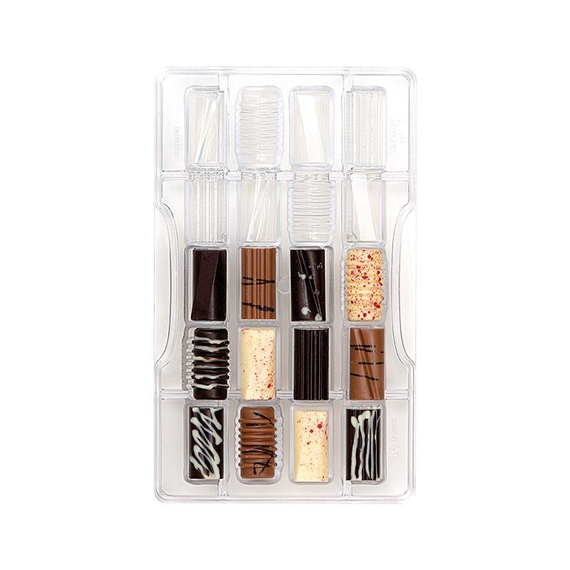 Polykarbonátová forma na čokoládu Fantasy cilinder kocky