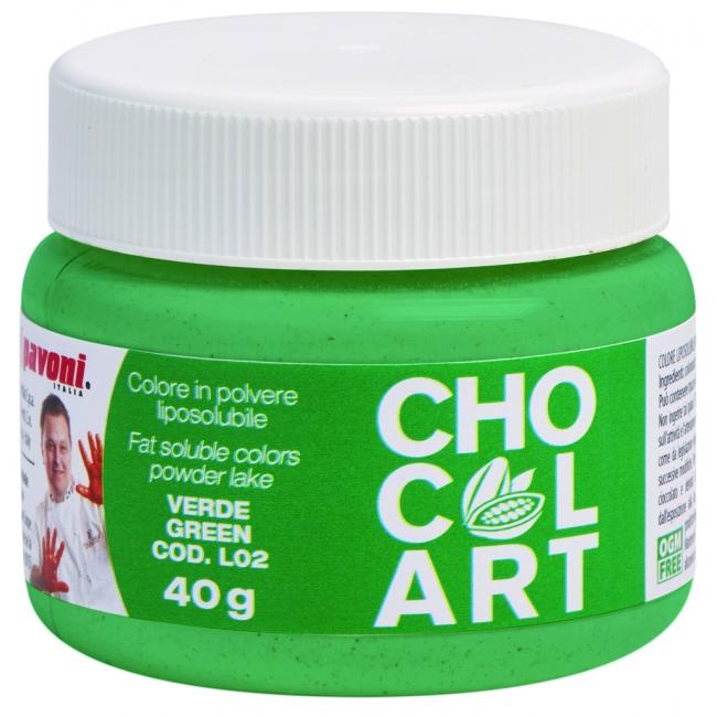 Práškova farba do čokolády zelená  40 g
