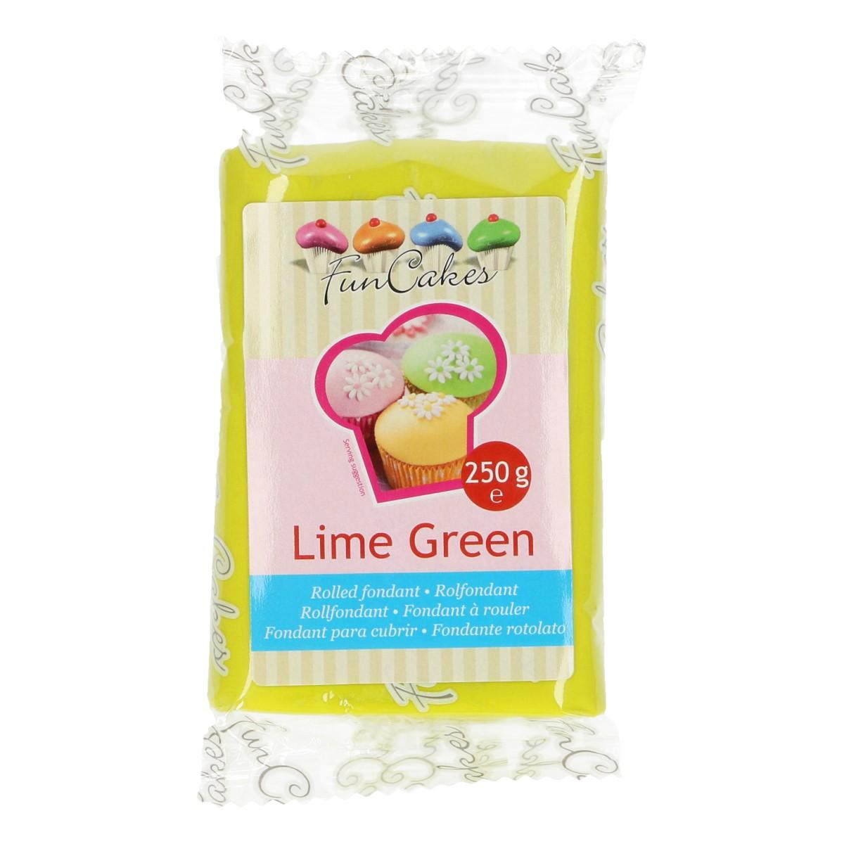 Roll fondant Lime Green -limetkovo zelený 250 g