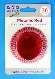 Košíčky červené metalické