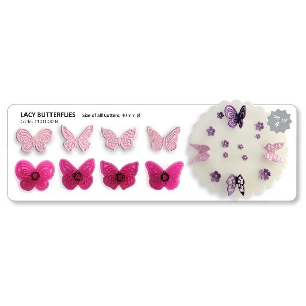 Vypichovač motýle 4 ks