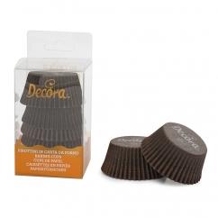 Košíčky papierové tmavo hnedé mini 200 ks