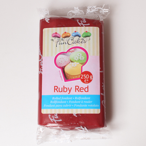 Fondant Ruby red - bordový 250 g
