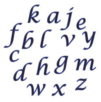 Písmená malé kurzíva