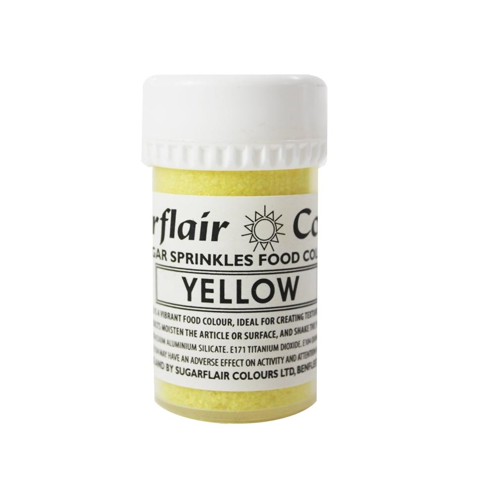 Práškový lesk sugar sprinkles yellow-žltý 20 g