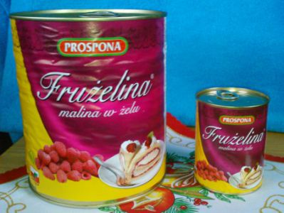 Fruzelina malina 380g