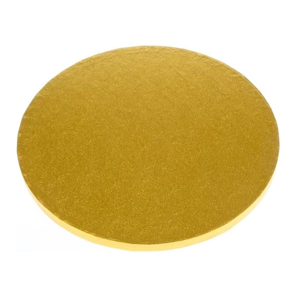 Tortová podložka hrubá zlatá kruh 35 cm