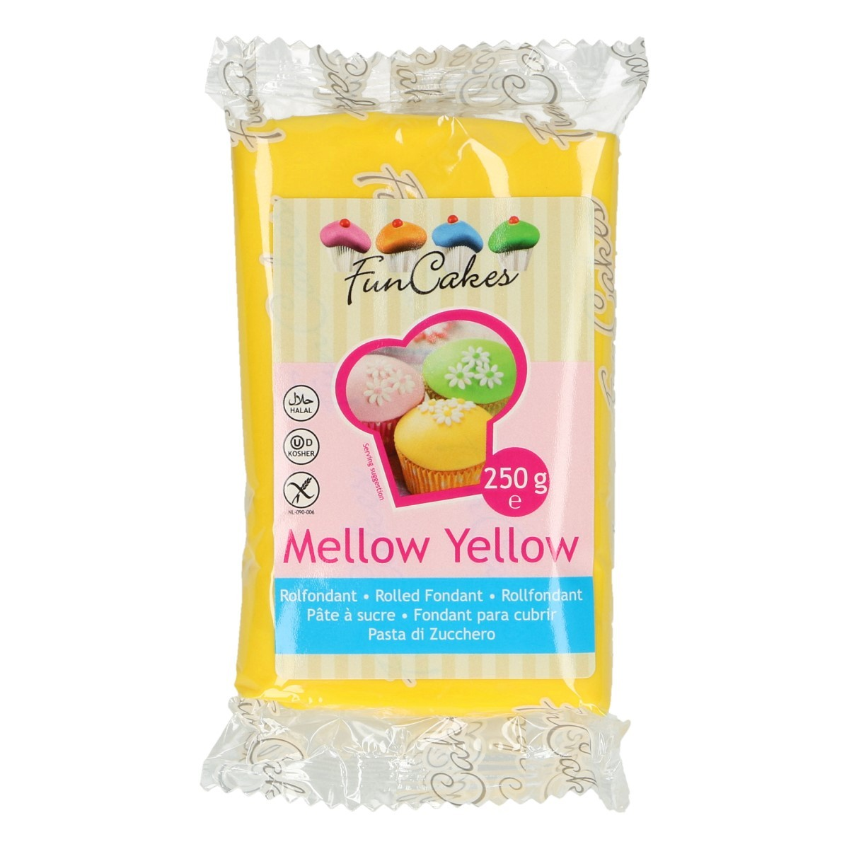 Roll fondant Mellow yelow-žltý 250 g