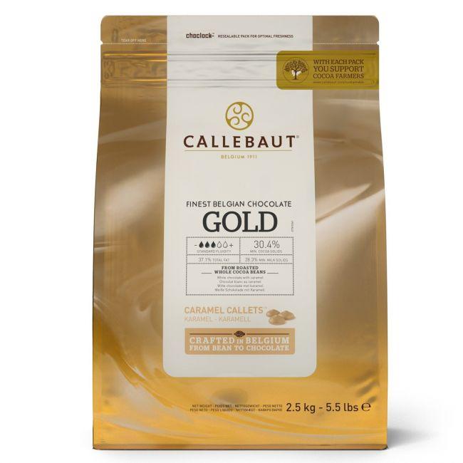 Belgická čokoláda Callets gold karamelová 2,5kg