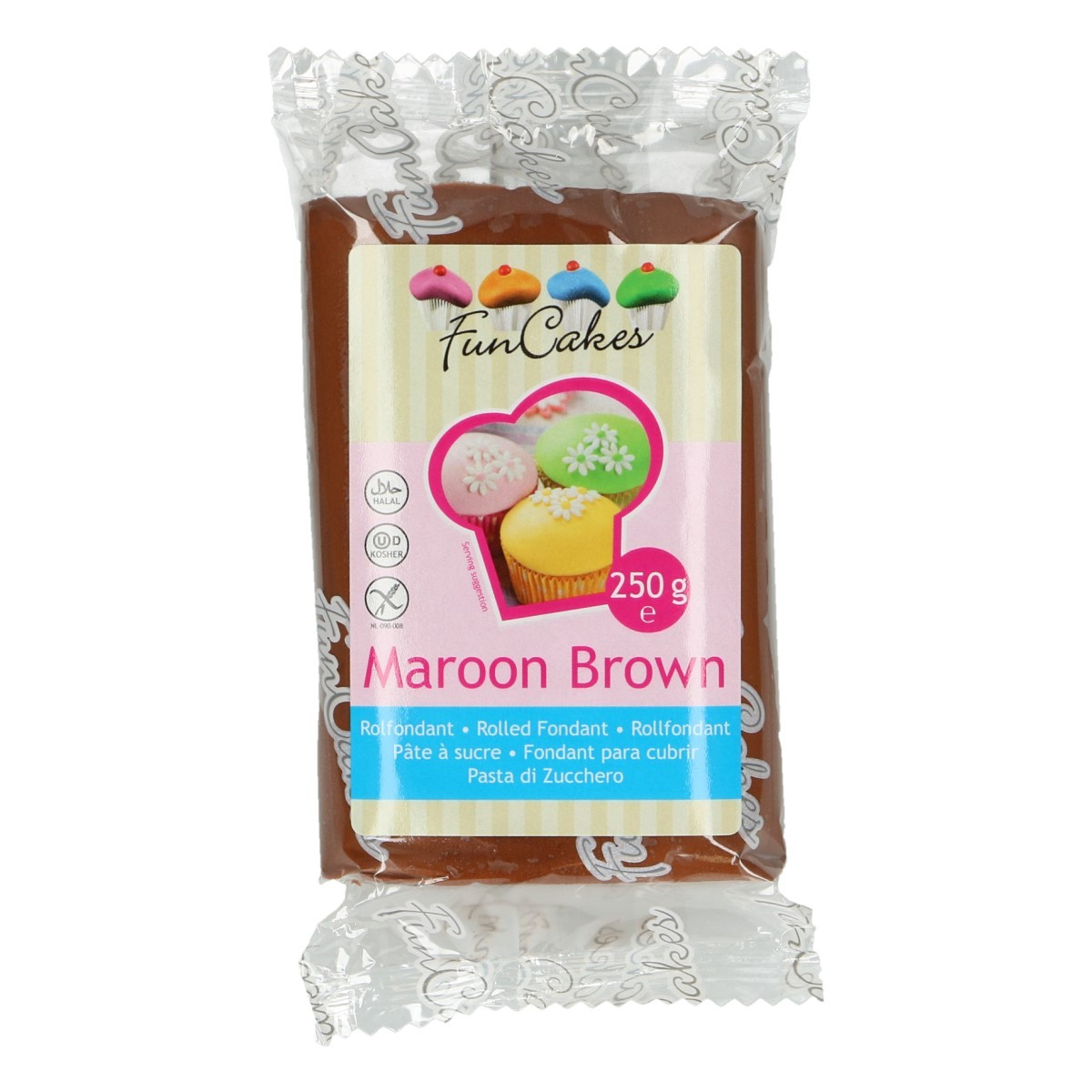 Roll fondant Maroon Brown hnedý 250 g