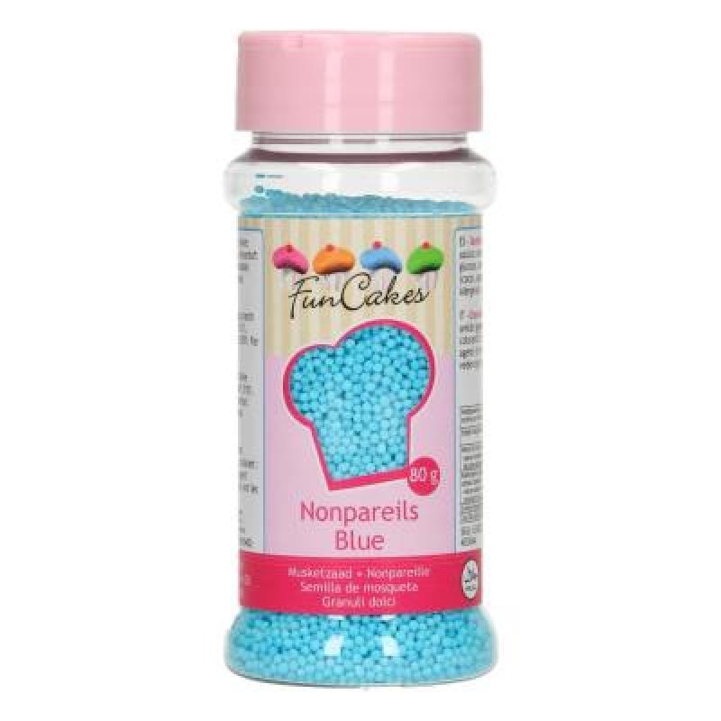 Cukrové mini perličky svetlo modré 80 g