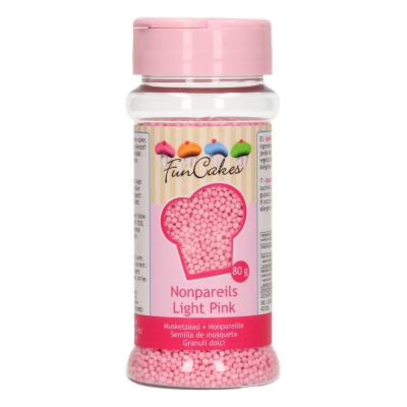 Cukrové mini perličky ružové 80 g