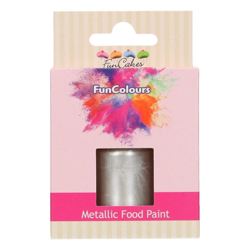 Tekutá farba na maľovanie strieborná 30 ml