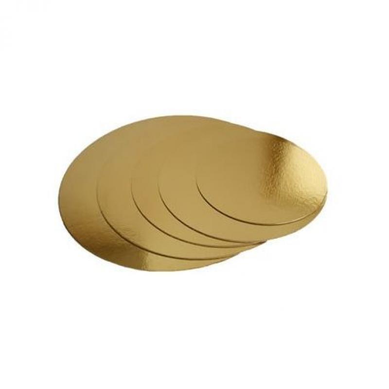 Podložka tenká zlatá kruh priemer 16 cm