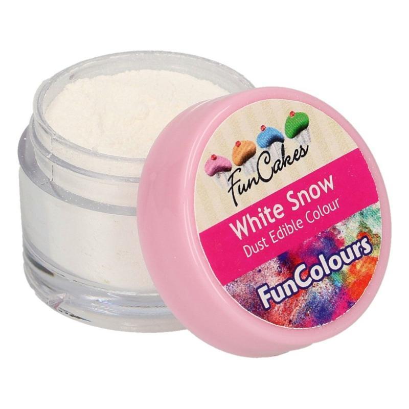 Prášková farba White snow, biela 4g