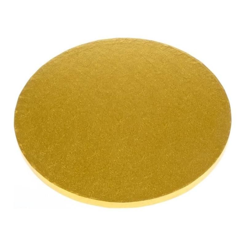 Podložka pod tortu hrubá zlatá 25 cm