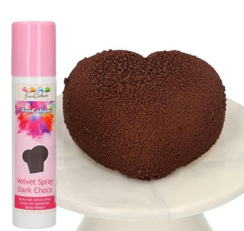 velvet sprej Dark Choco - tmavá čokoláda 100ml