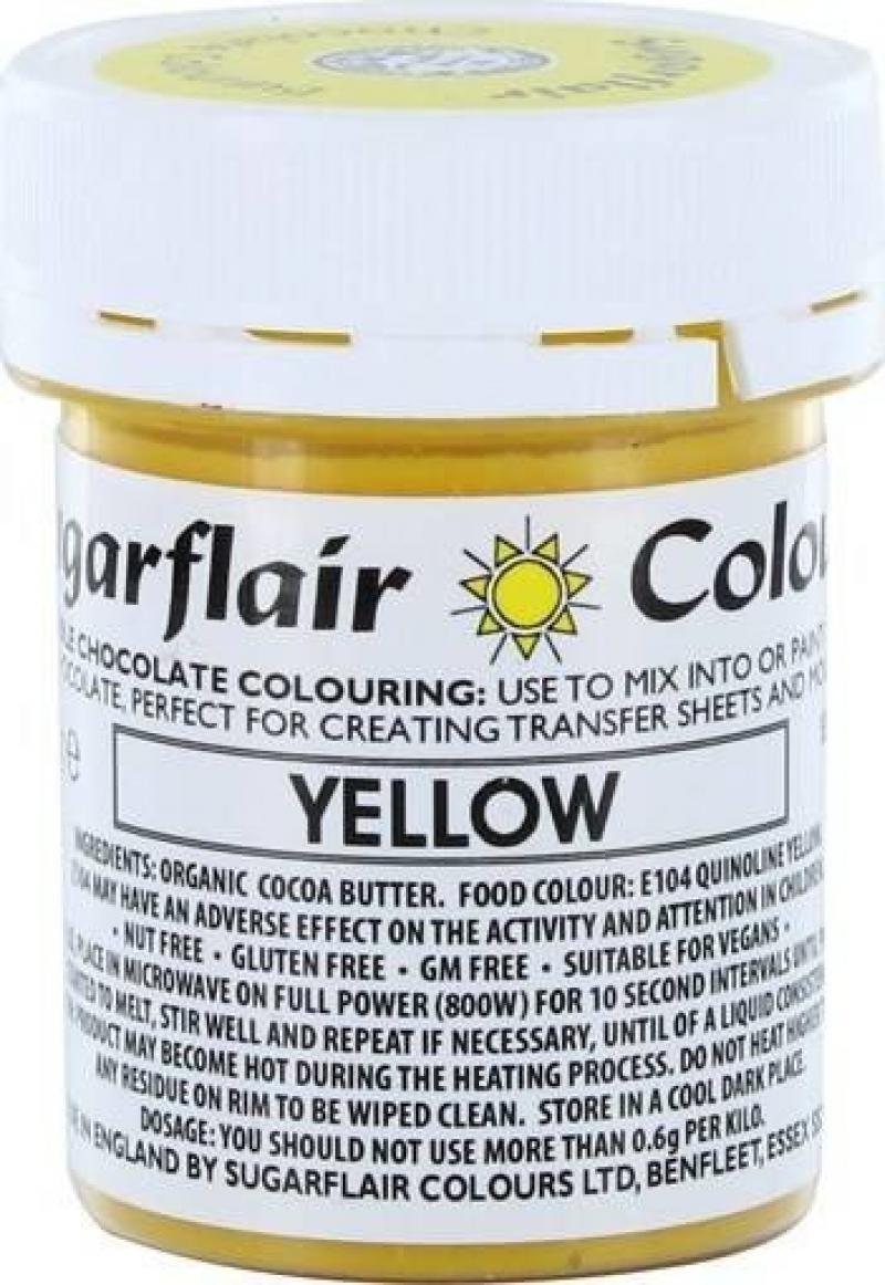 Farba do čokolády Yellow žltá 35g