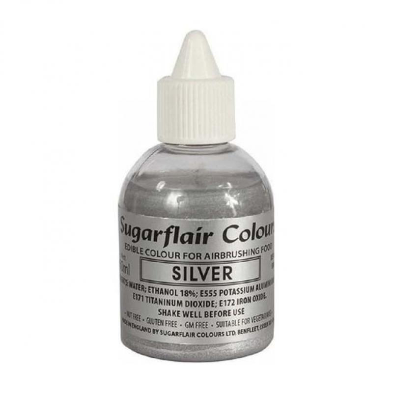 Tekutá farba glitter do fixírky Silver, strieborná 60 ml