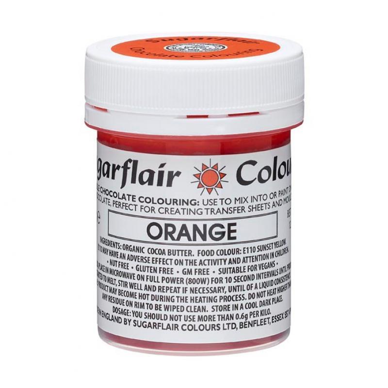 Farba do čokolády Orange, oranžová 35g