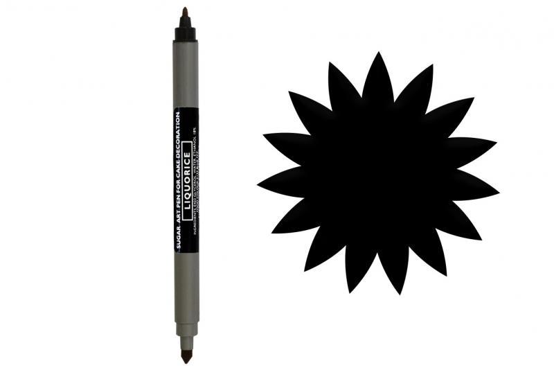 Obojstranná fixka Black, čierna