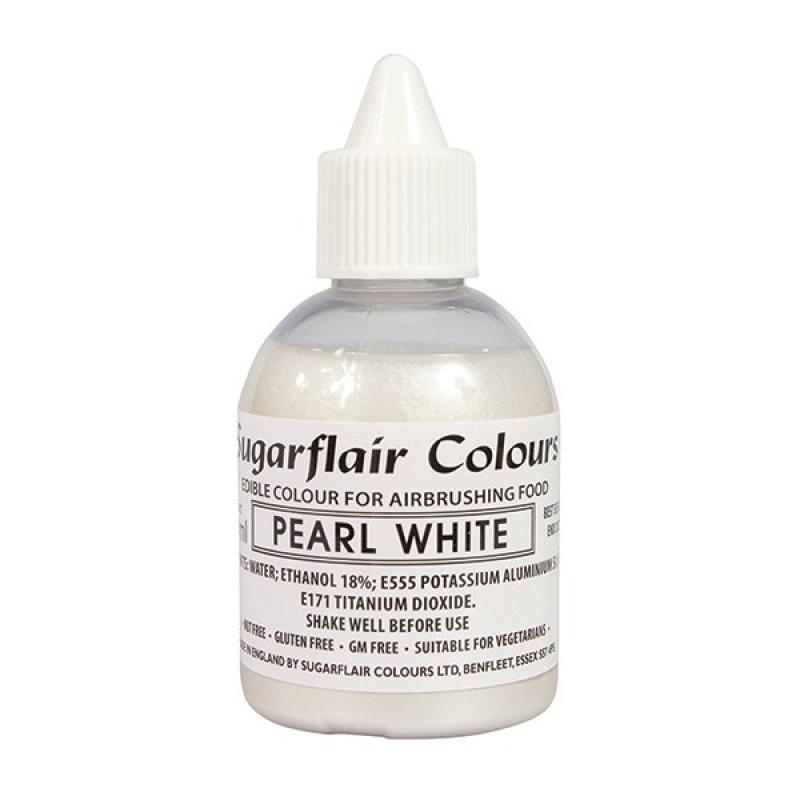 Tekutá farba glitter do fixírky Pearl White,  perleťová biela 60 ml